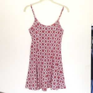 Forever 21 | Red Patterned Skater Style Dress